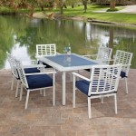 Glass Top Patio Dining Table
