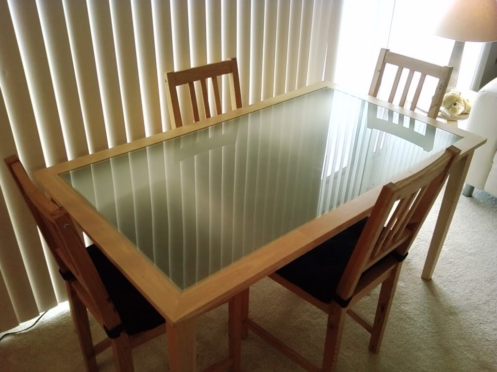 Ikea glass top dining table decor ideasdecor ideas - Ikea wooden dining table chairs ...