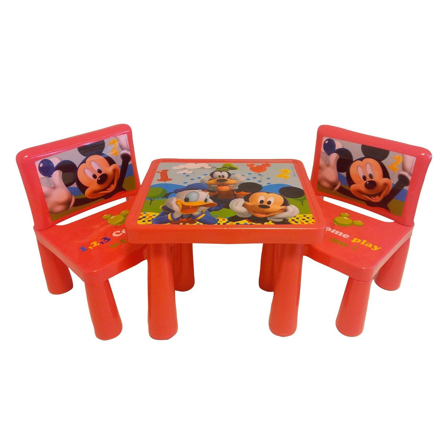 Mickey mouse clubhouse table and chair set decor - Mickey mouse clubhouse bedroom decor ...