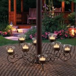 Outdoor Votive Candle Chandelier