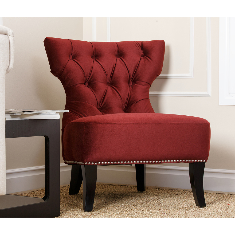 Burgundy Accent Chair Decor IdeasDecor Ideas