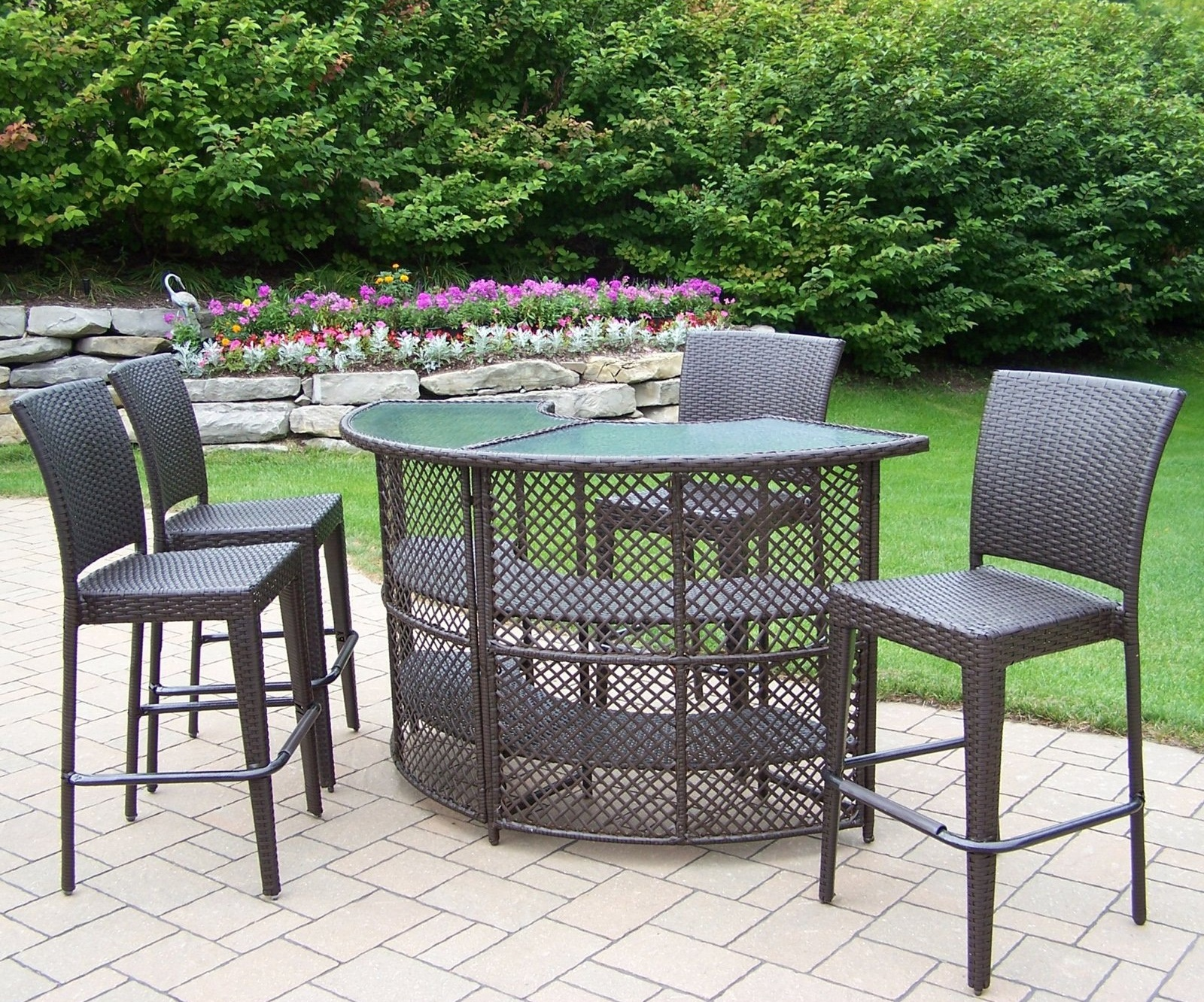 Outdoor patio bar sets image for Outdoor patio furniture sets