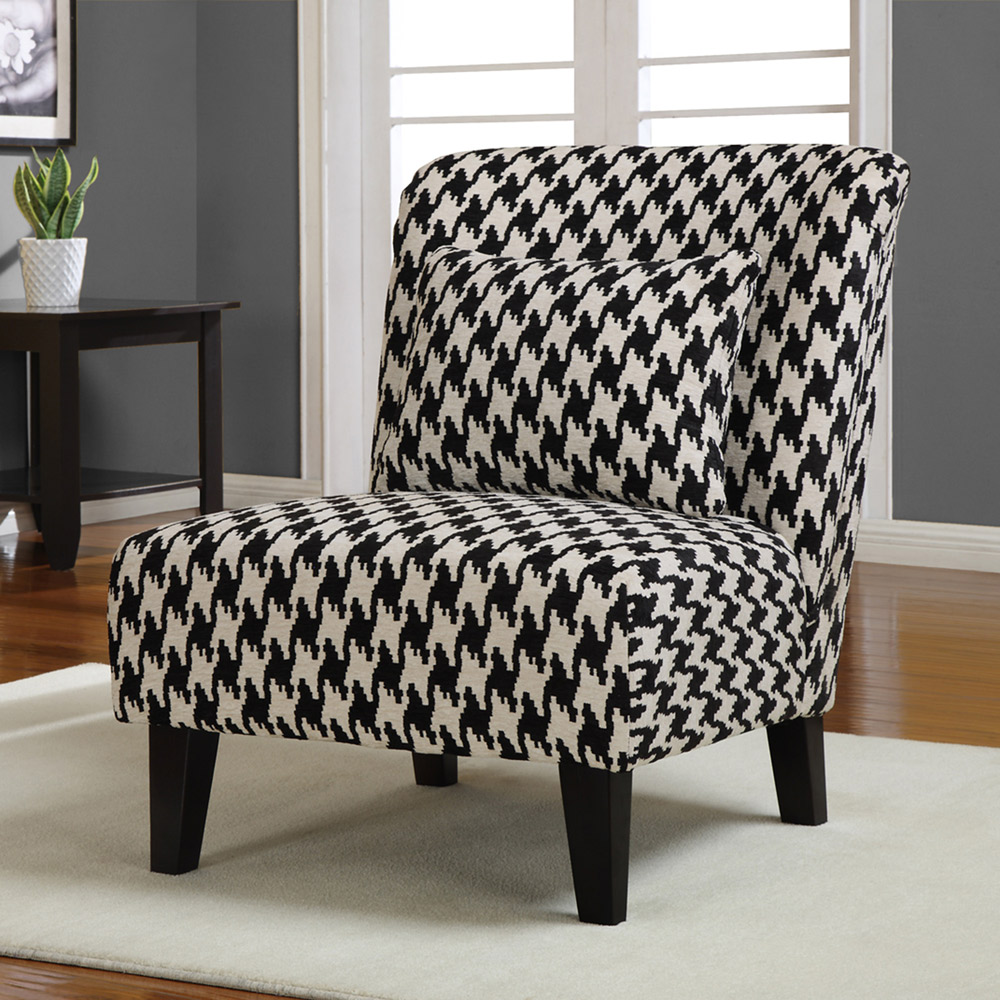 Black And White Accent Chair Dadka Modern Home Decor And