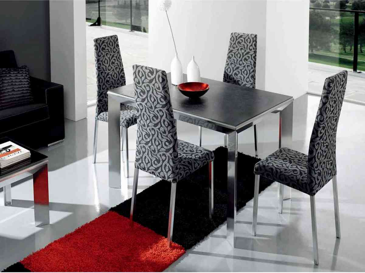 black dining room chairs set of 4 decor ideasdecor ideas. Black Bedroom Furniture Sets. Home Design Ideas