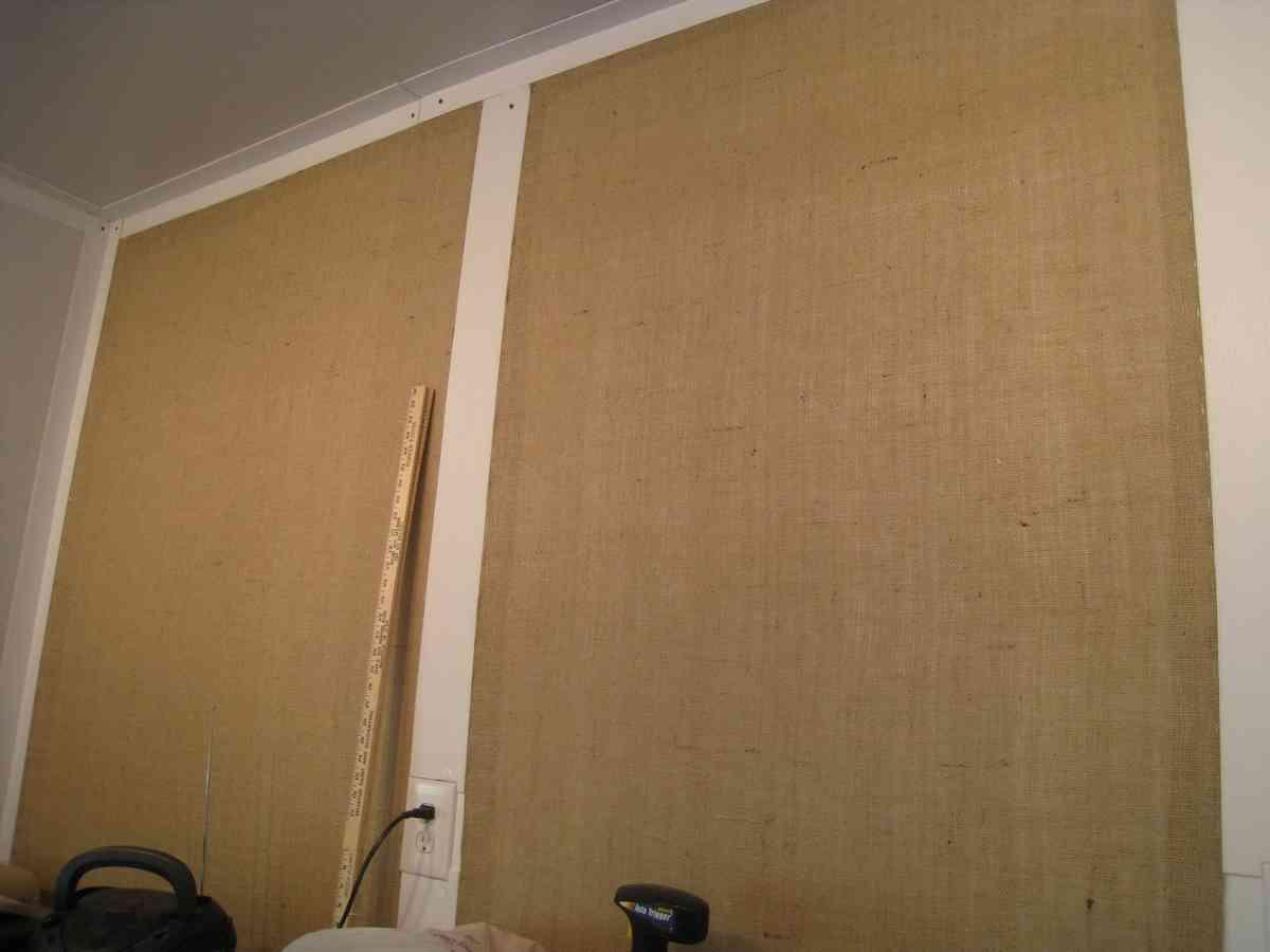Burlap Wall Covering Decor Ideasdecor Ideas