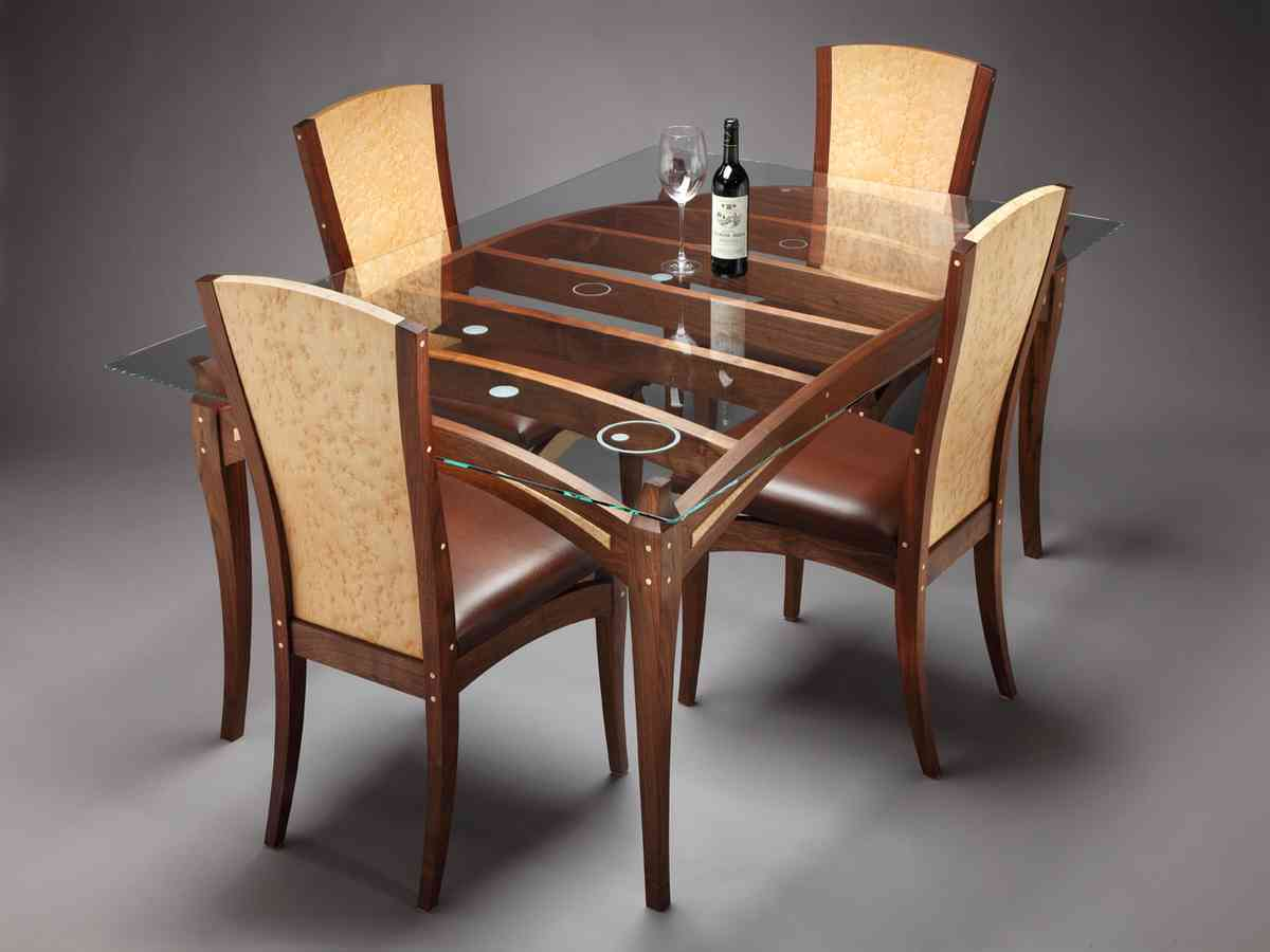 glass top dining table set 4 chairs decor ideasdecor ideas. Black Bedroom Furniture Sets. Home Design Ideas