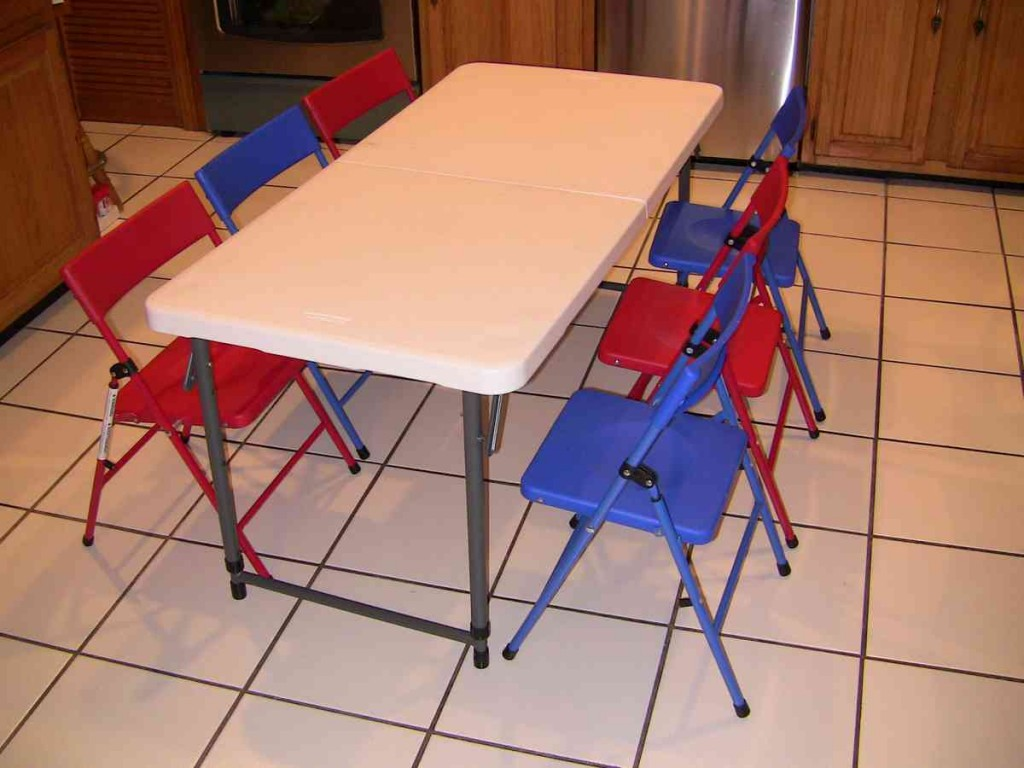 Kids Folding Table And Chair Set