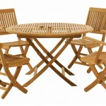 Wood Folding Table And Chairs Set