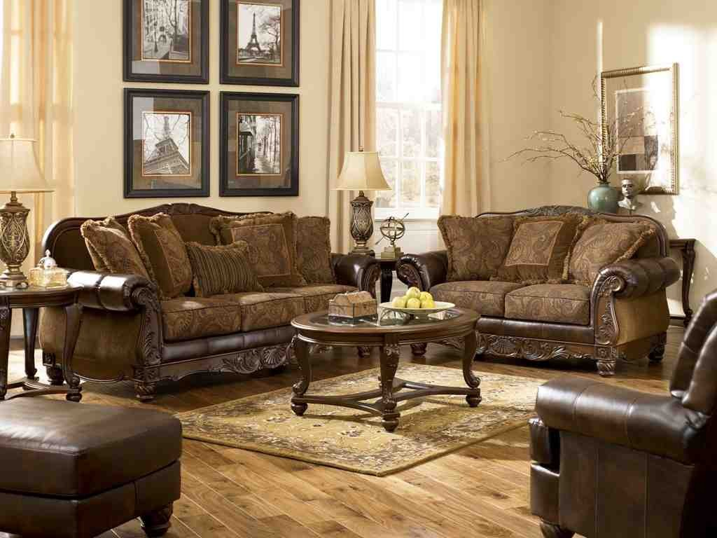 ashley furniture leather living room sets   decor