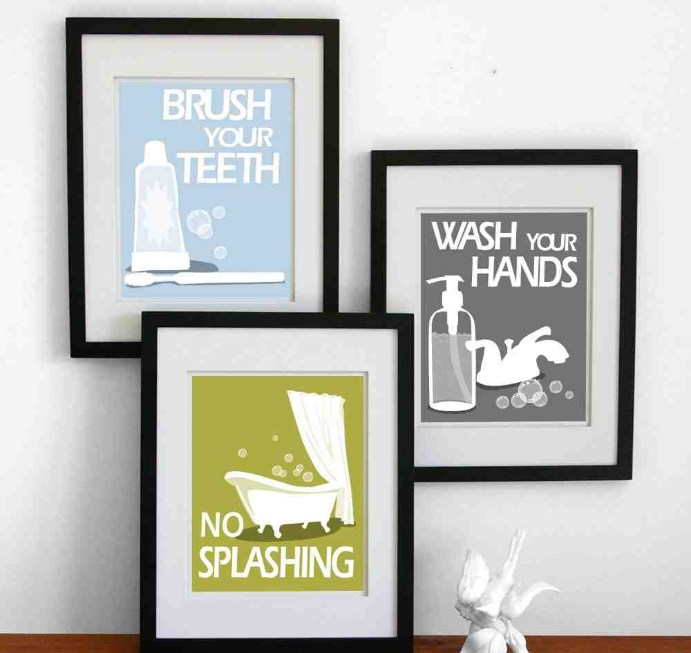 Cheap bathroom wall decor decor ideasdecor ideas for Cheap wall art ideas