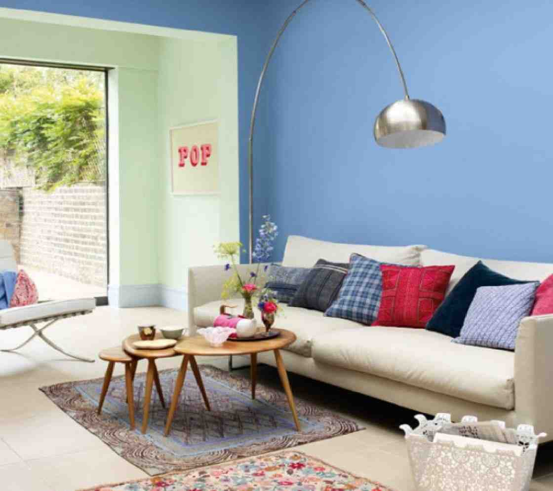 Contemporary wall colors for living room decor for Family room wall colors