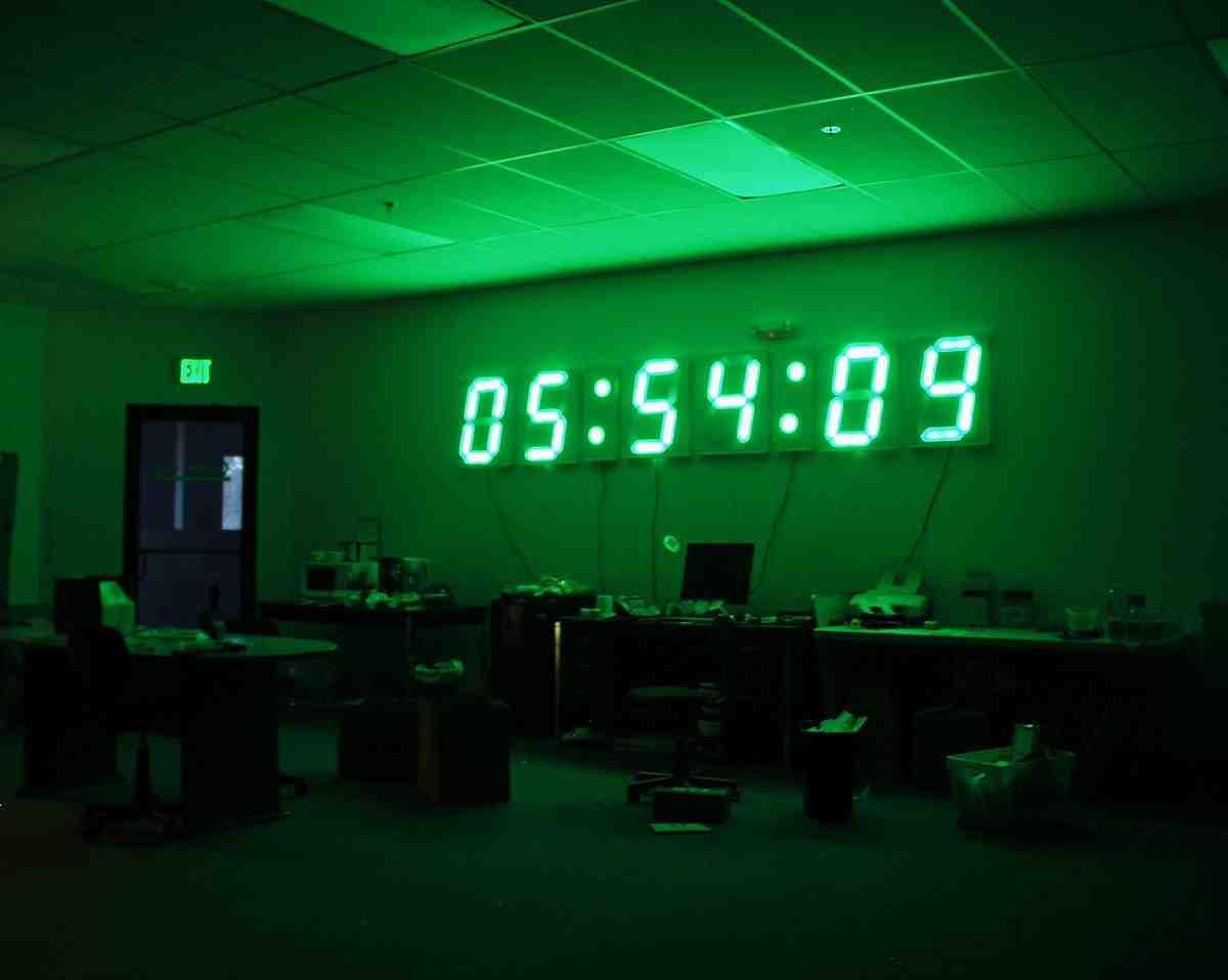 Giant Digital Wall Clock Decor Ideasdecor Ideas
