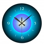 Illuminated Digital Wall Clock