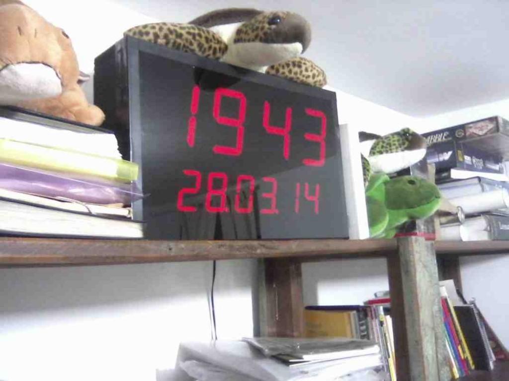 Large Digital Wall Clock
