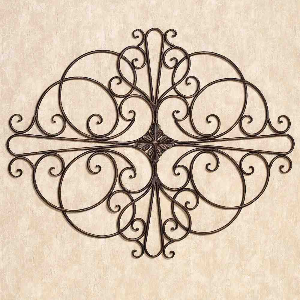 Large wrought iron wall art bing images for Outside wall art