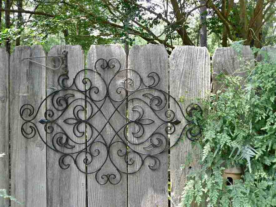 Large outdoor wrought iron wall decor decor ideasdecor ideas for Outdoor garden wall decor