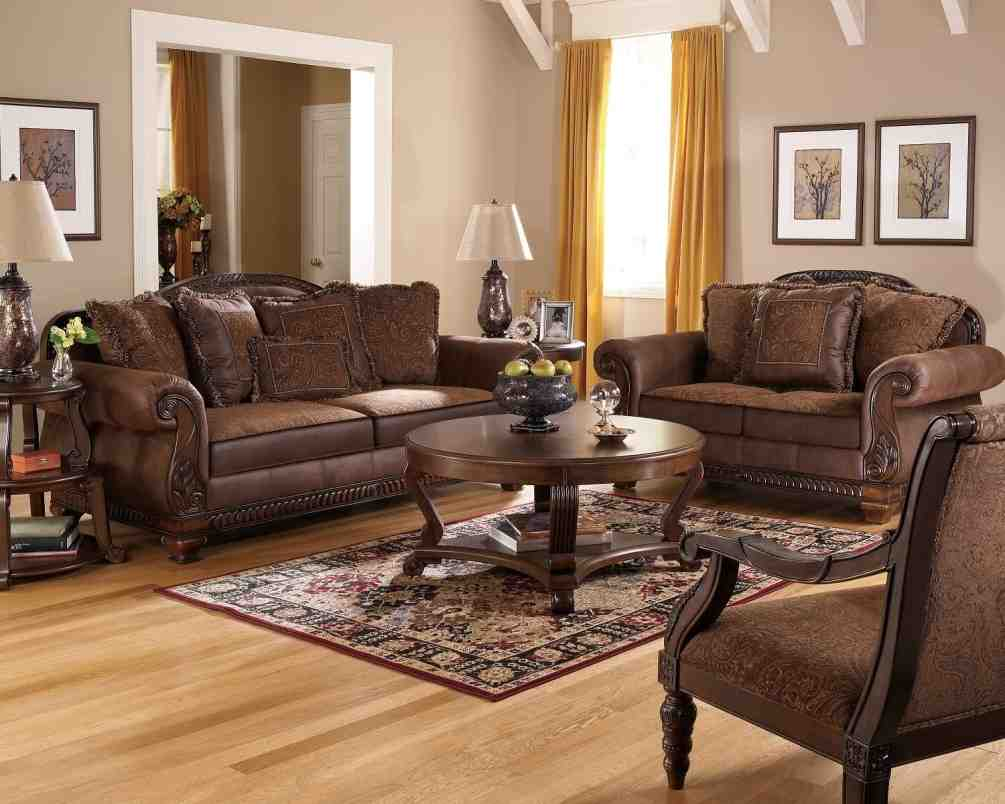 Leather and Fabric Living Room Sets