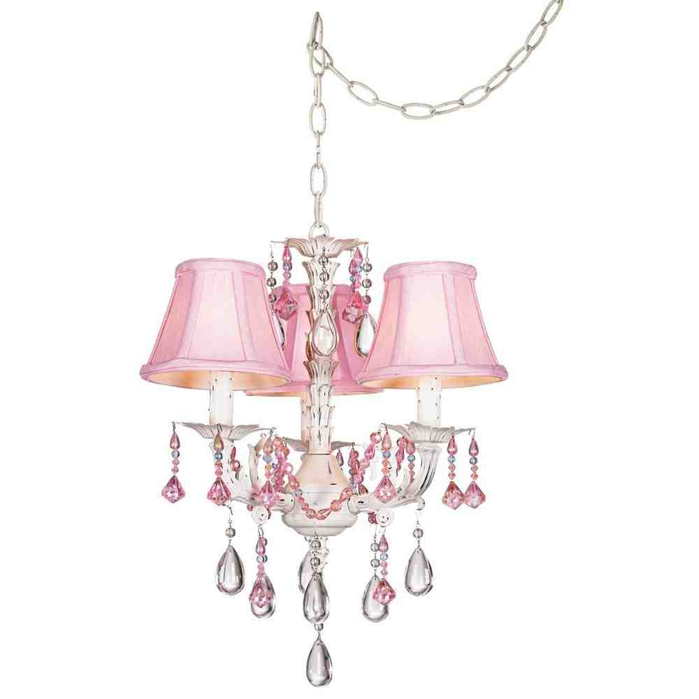 Pink Chandelier Lamp Shades