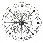 Round Wrought Iron Wall Decor