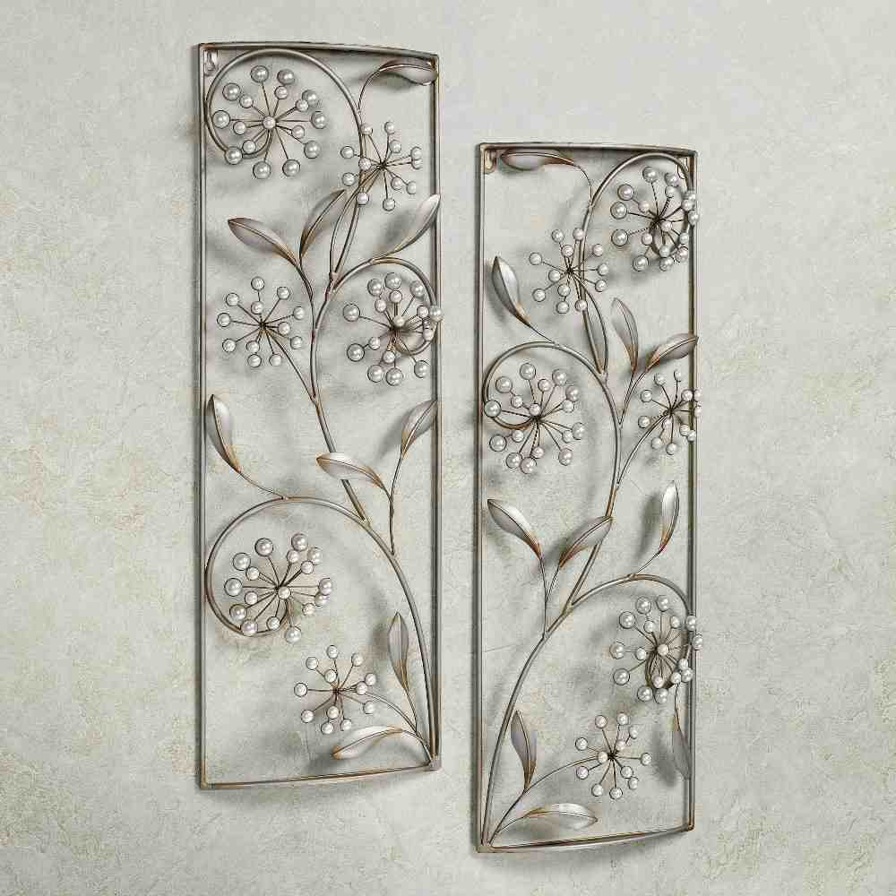 Silver wall art decor decor ideasdecor ideas for Silver wall art