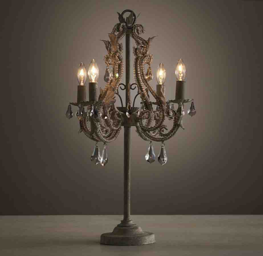 Table lamp chandelier style decor ideasdecor ideas