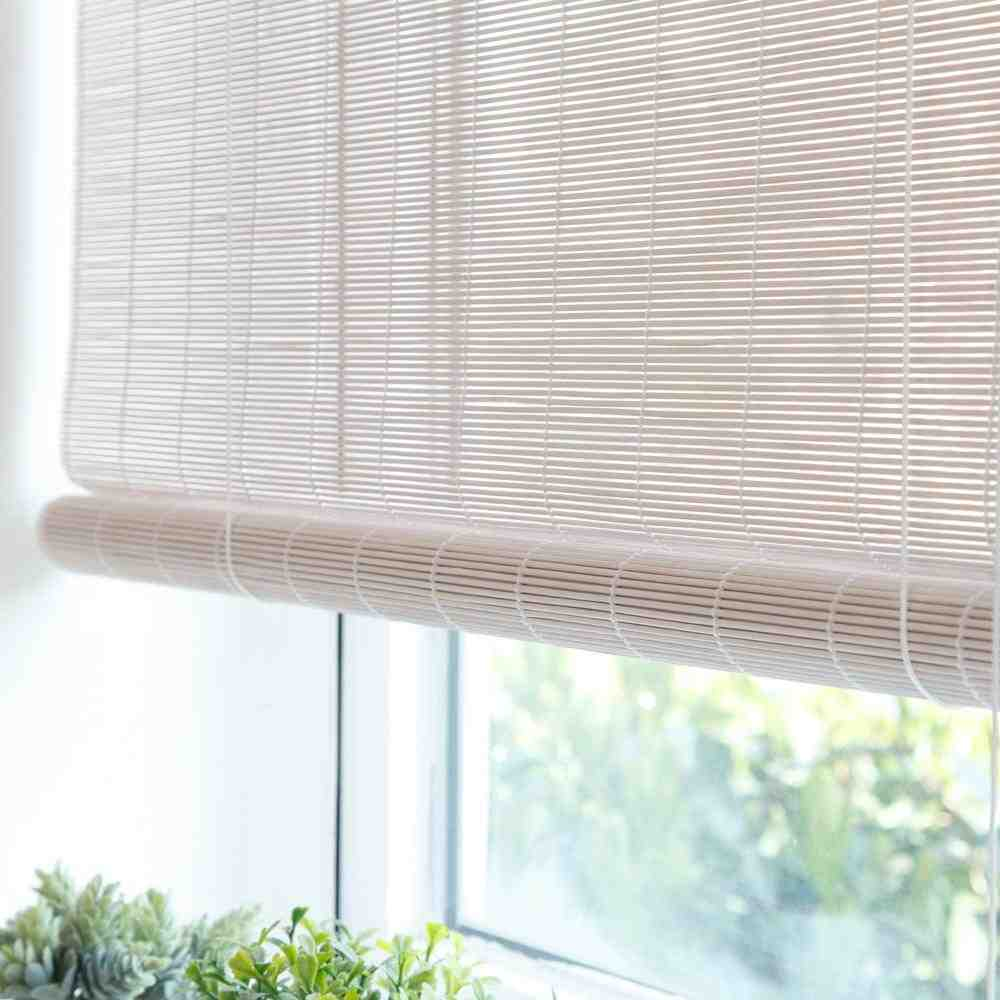 white bamboo blinds   decor ideasdecor ideas