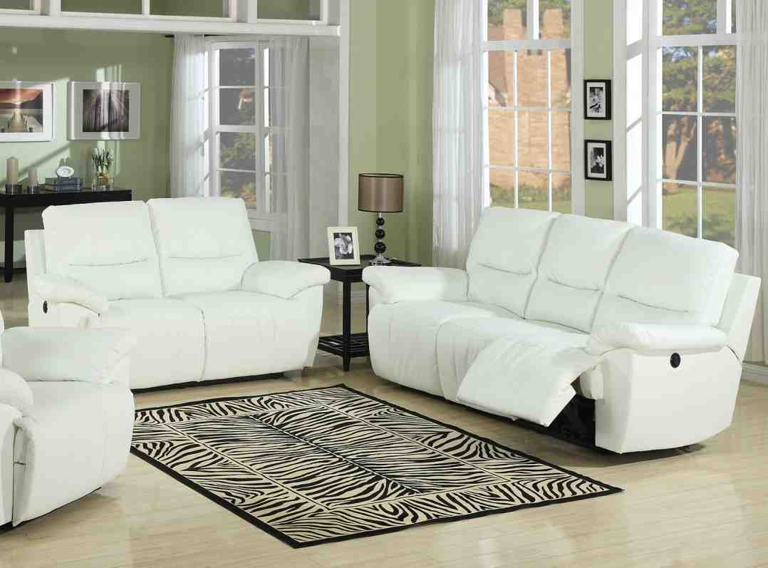 White leather living room set decor ideasdecor ideas for Leather living room sets