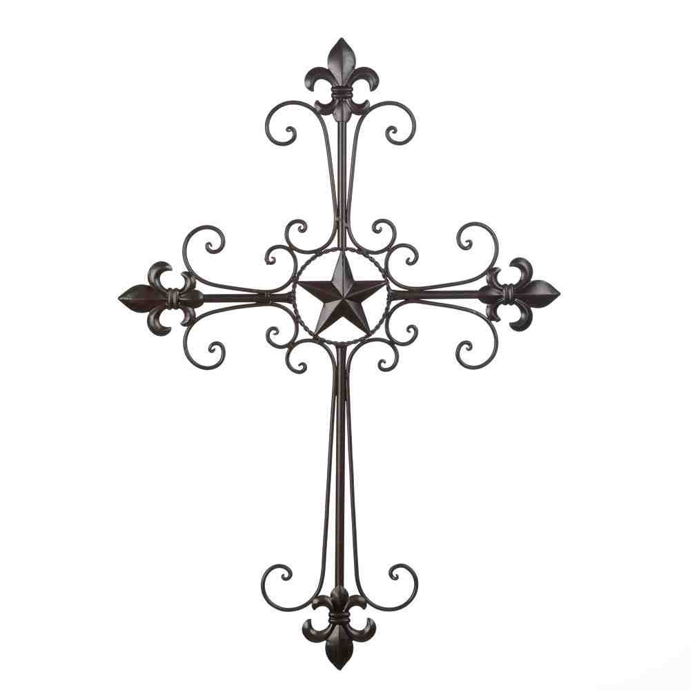 Wrought iron cross wall decor decor ideasdecor ideas for Wrought iron decorations home