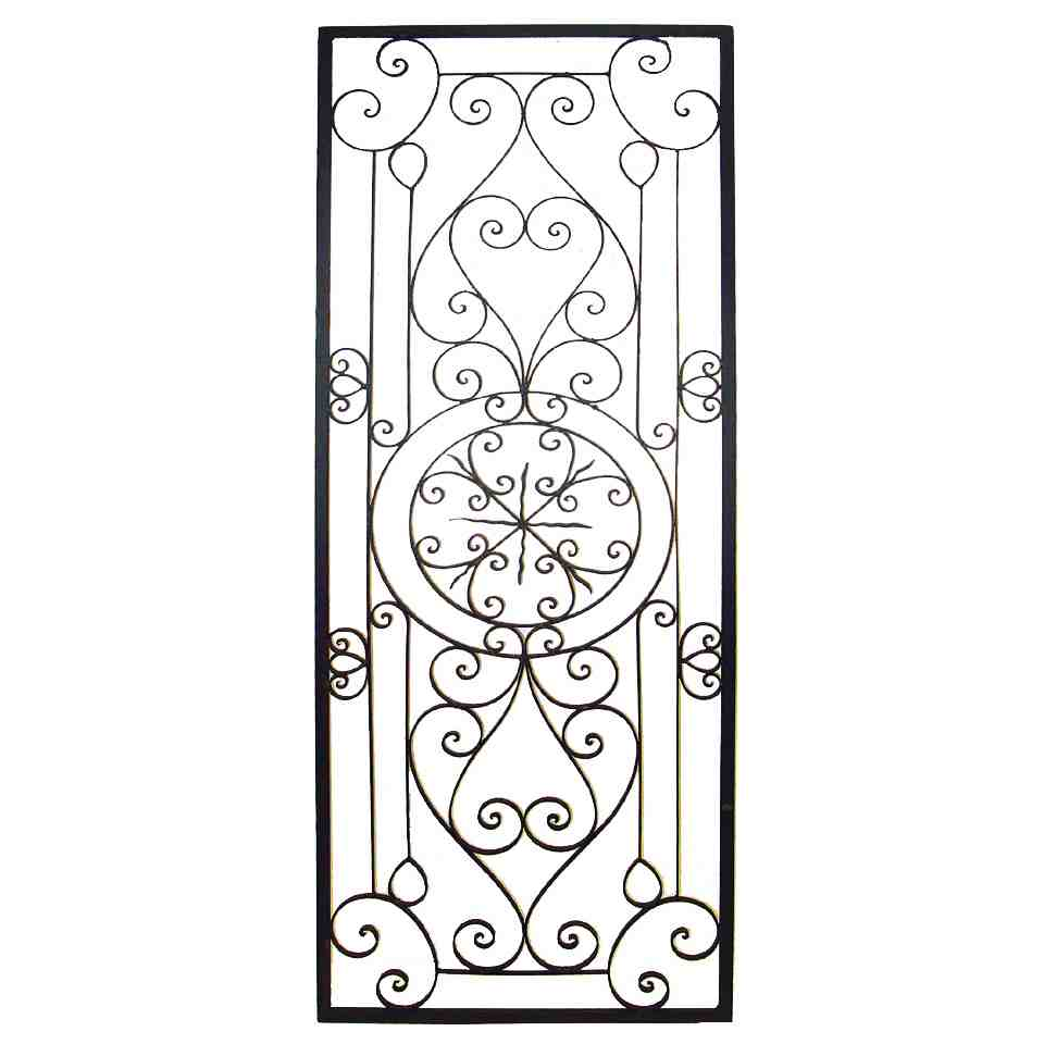 Wrought Iron Scroll Wall Decor