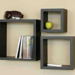 Black Floating Wall Shelves