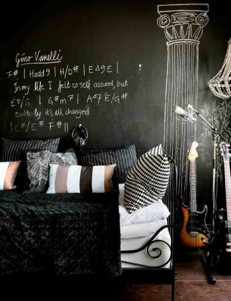 Black Wall Decorating Ideas