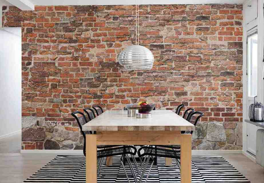 Brick wall decoration ideas decor ideasdecor ideas for Brick wallpaper bedroom ideas