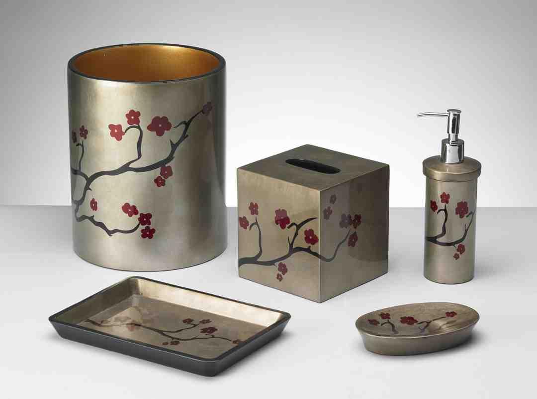 Cherry blossom bathroom decor decor ideasdecor ideas for Bathroom ideas 9x6