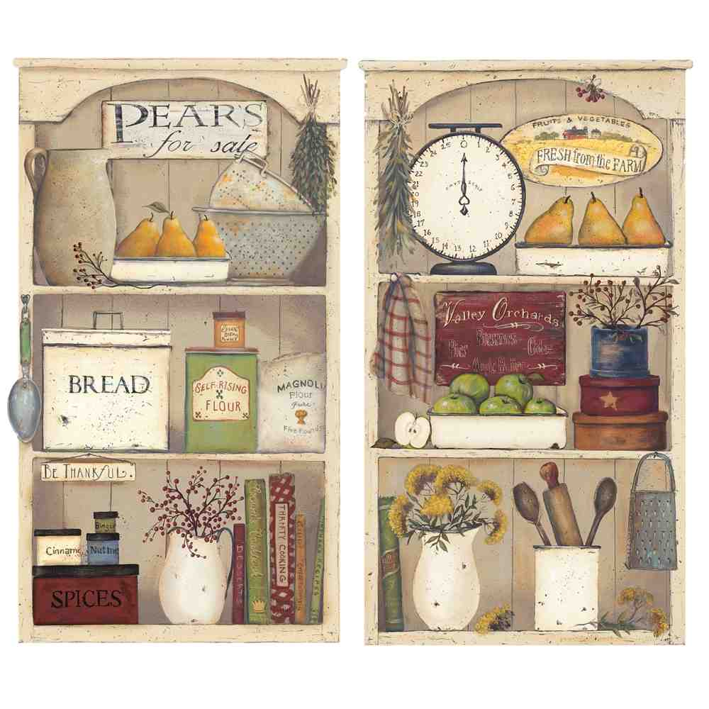 Country kitchen wall decor ideas decor ideasdecor ideas for Country kitchen wallpaper ideas