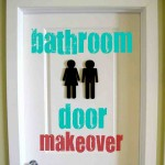 Decorative Bathroom Door Signs
