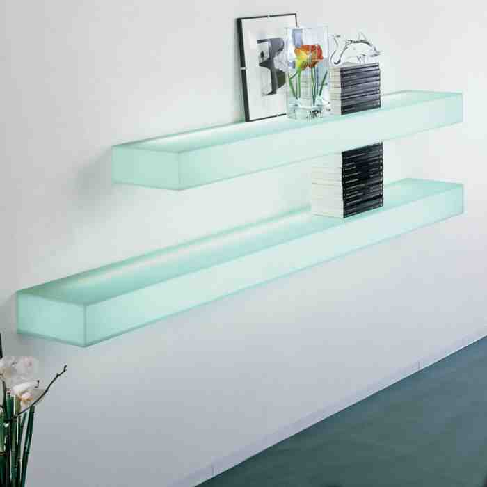 floating glass shelves wall mount decor ideasdecor ideas. Black Bedroom Furniture Sets. Home Design Ideas