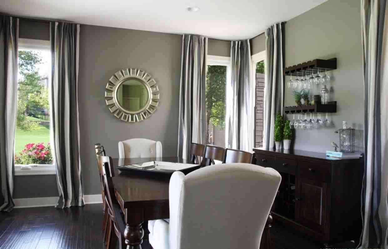Best gray paint colors for living room 2017 2018 best for Dining room curtains ideas