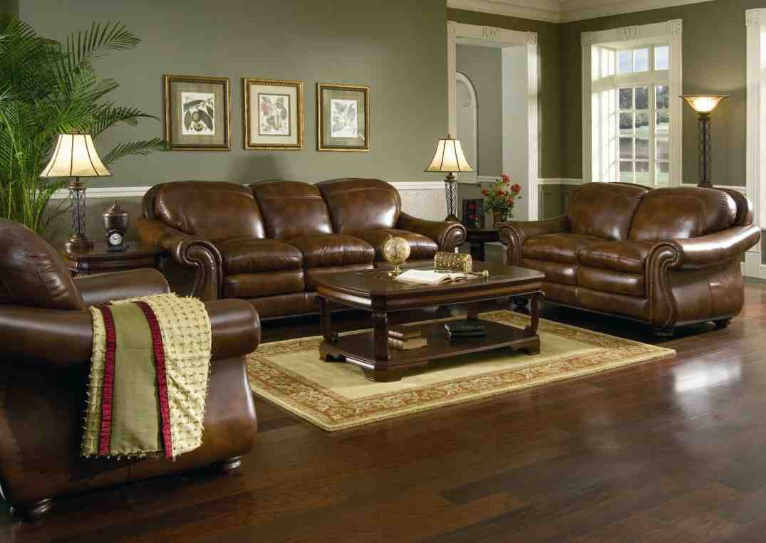 Living room paint ideas with brown furniture decor for Living room ideas with recliners