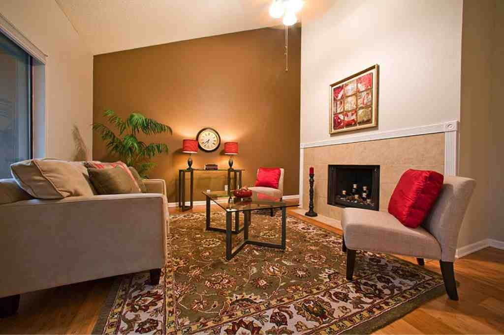 painting an accent wall in living room  decor ideasdecor