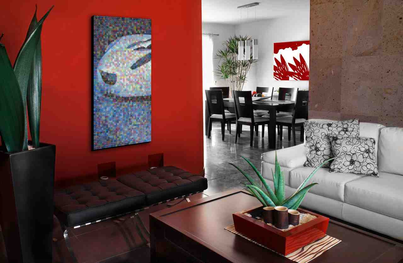 Red Wall Living Room Decorating