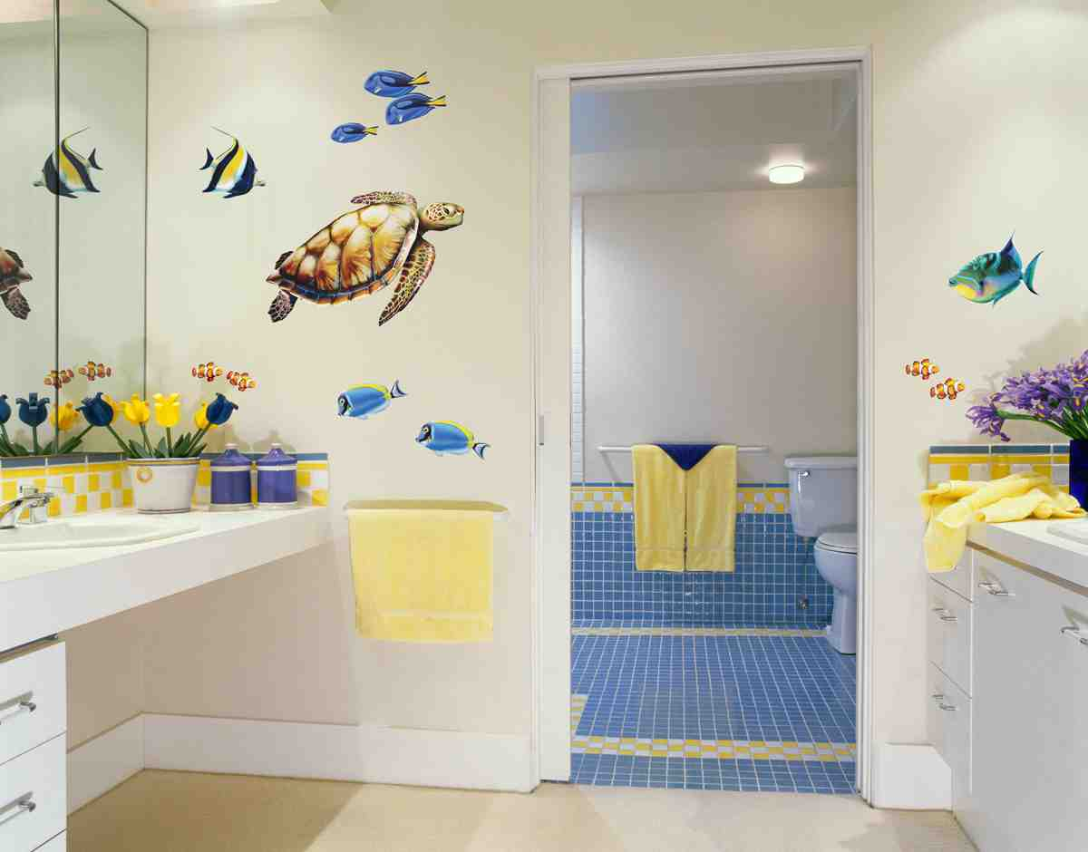 Sea turtle bathroom decor decor ideasdecor ideas for Sea bathroom set