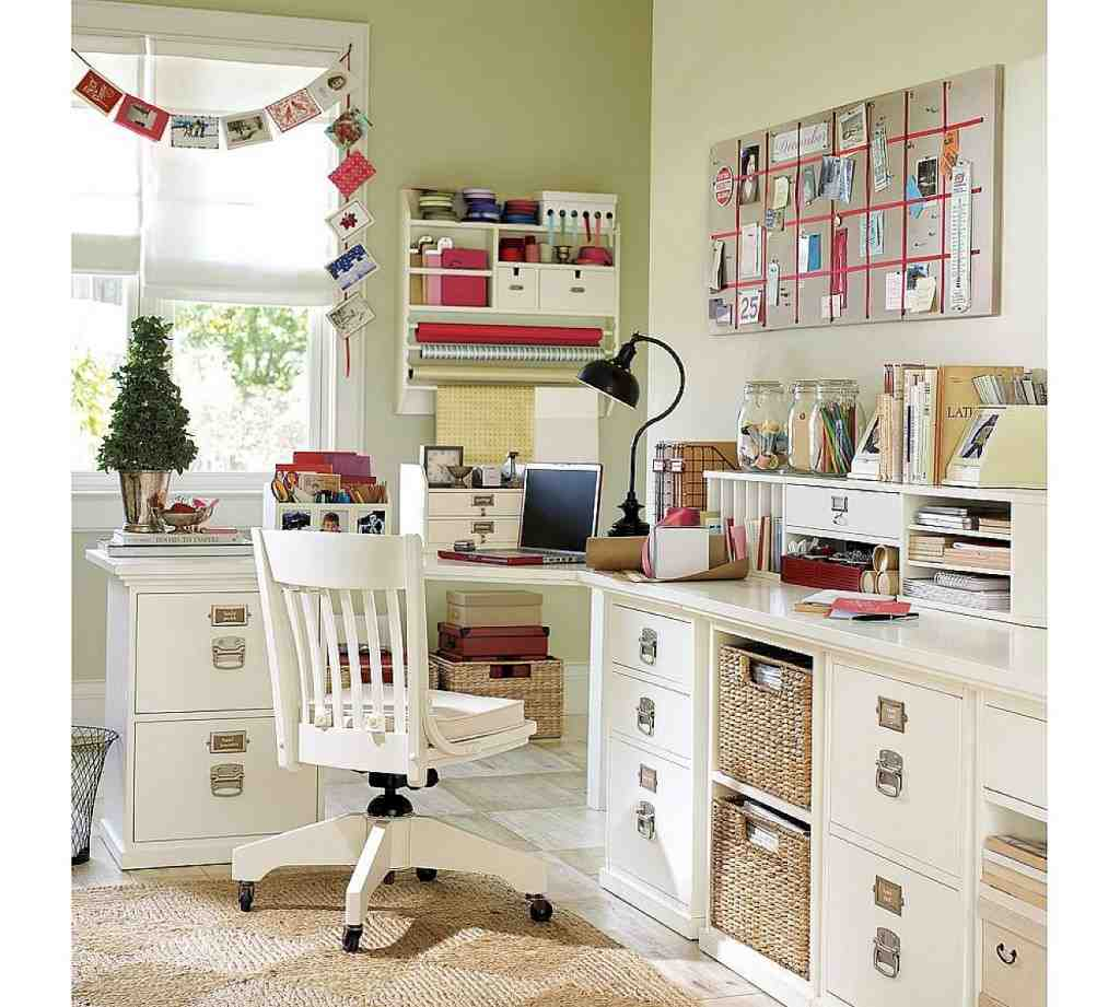 Shabby Chic Office Decor