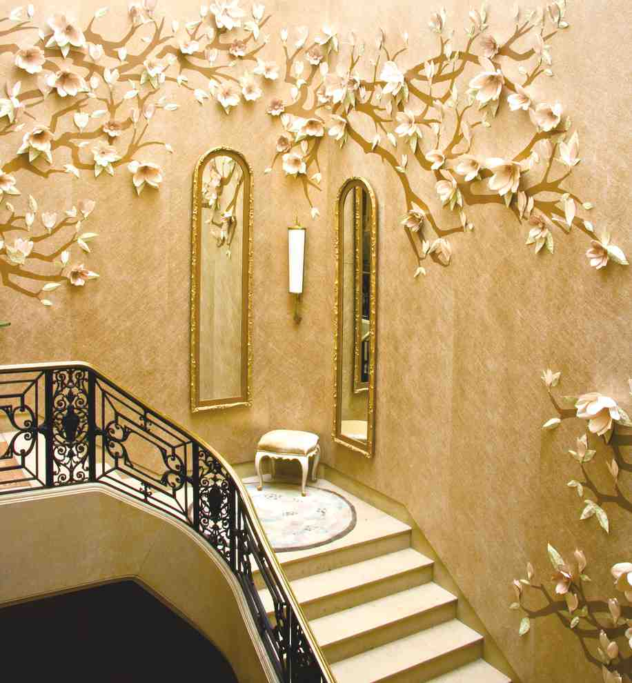Staircase wall decorating ideas decor ideasdecor ideas for Interior wall decoration ideas