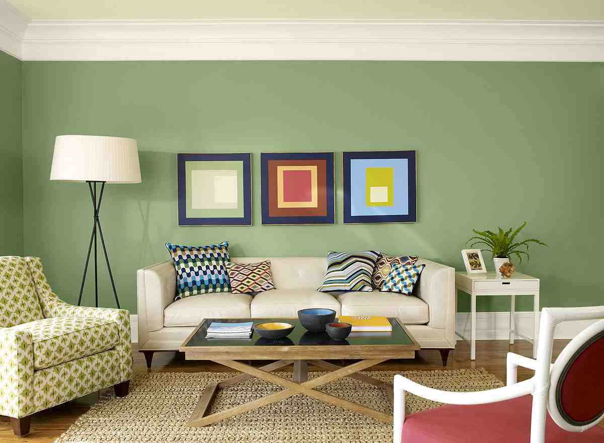 Upstairs landing on pinterest small den ryland homes and charlotte york apartment - Green paint colors for living room ...