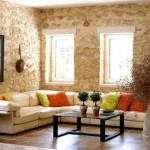 Beige Living Room Walls