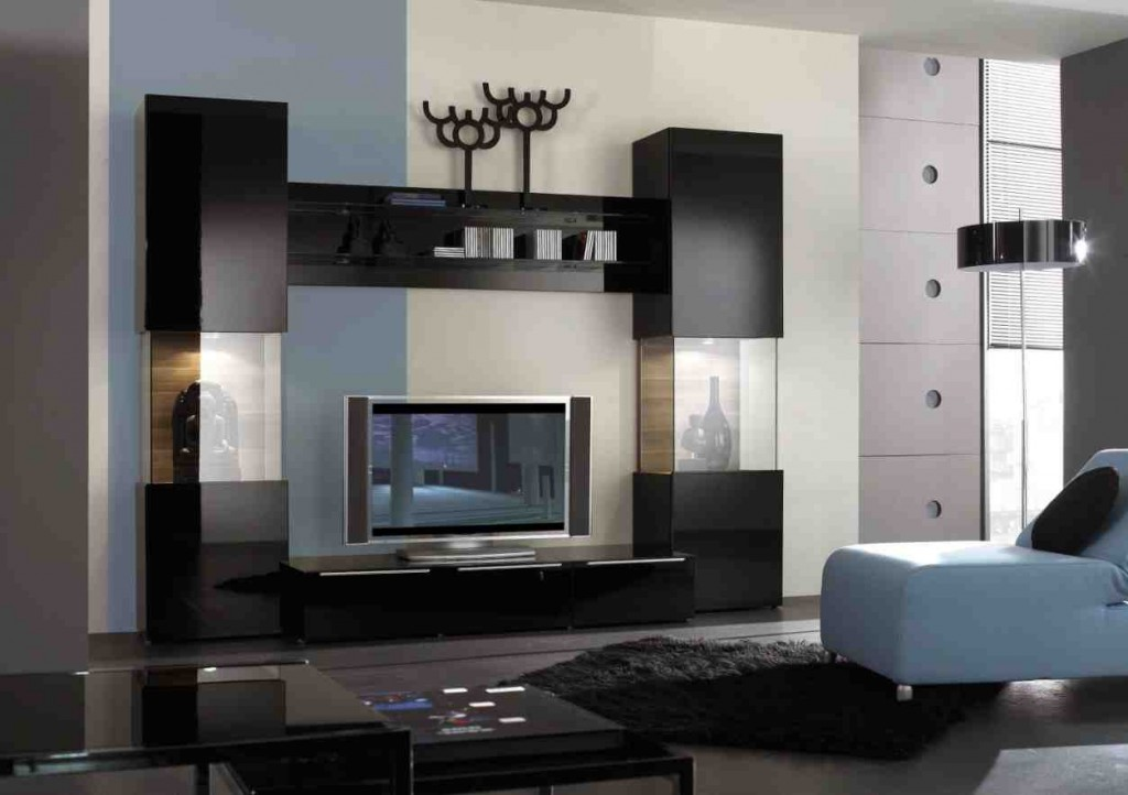 Black Wall Units for Living Room