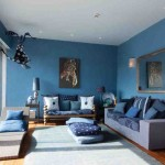 Blue Walls Living Room