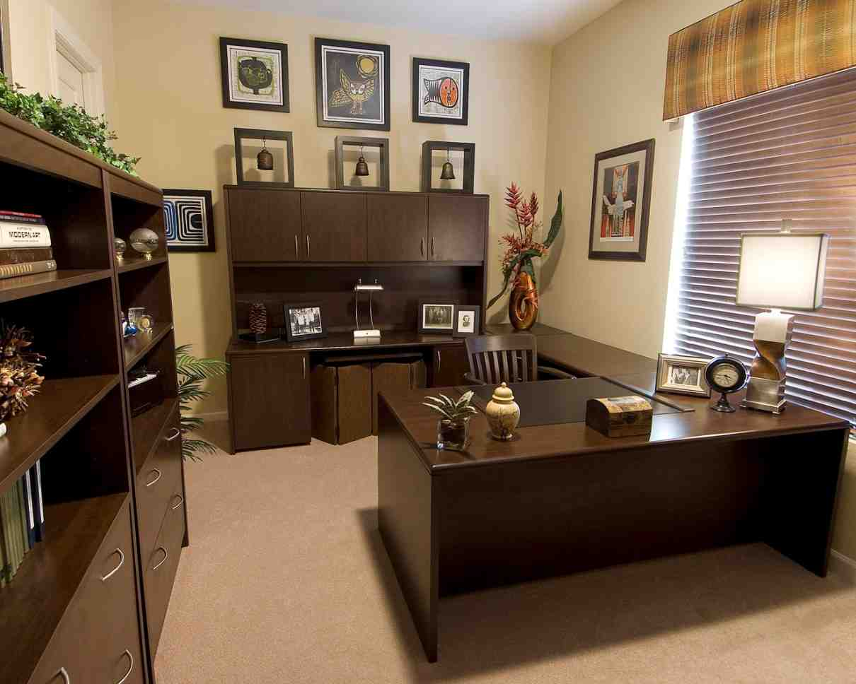 Ideas for decorating your office at work decor for Home office design decorating ideas