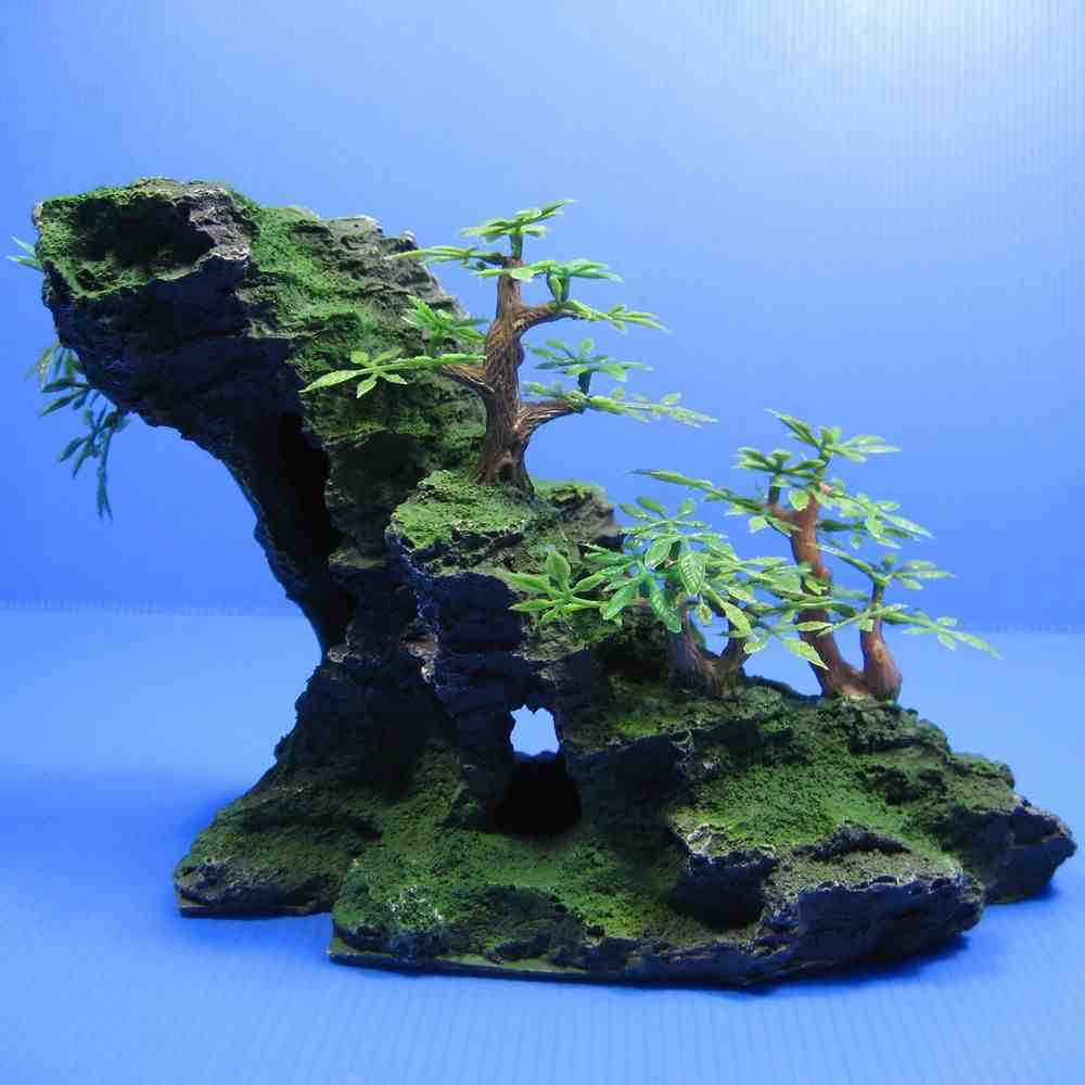 Image gallery large aquarium decorations for Tall fish tank decorations