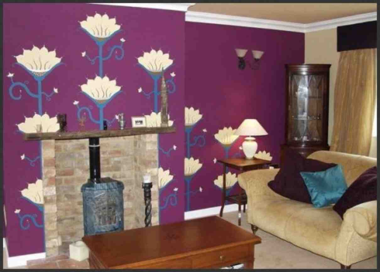 Purple Walls In Living Room Decor Ideasdecor Ideas